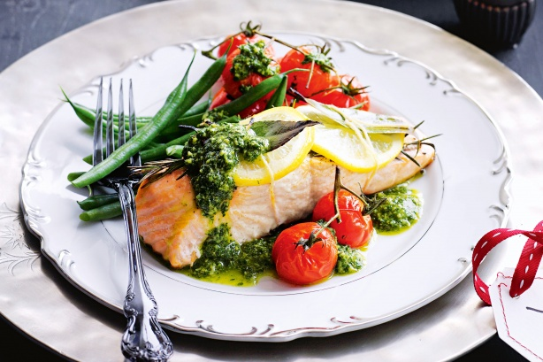 recipe for tray baked salmon